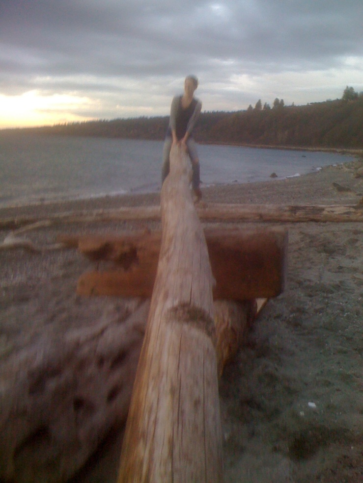 Of course, Mose and I used to seesaw all the time